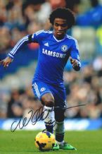 Willian Autograph Photo Signed - Chelsea